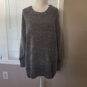 Gray Chenille Sweater Large New